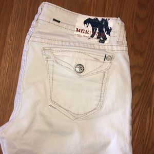 MEK Pants - MEK White Capris
